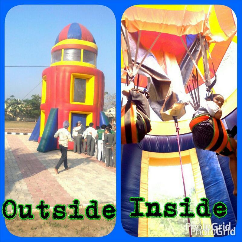 pressure rocket ride for school kids