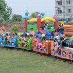 train ride in school campus