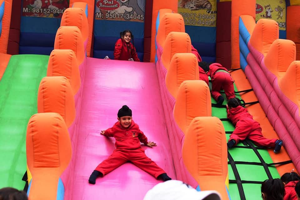 kids carnival in school campus